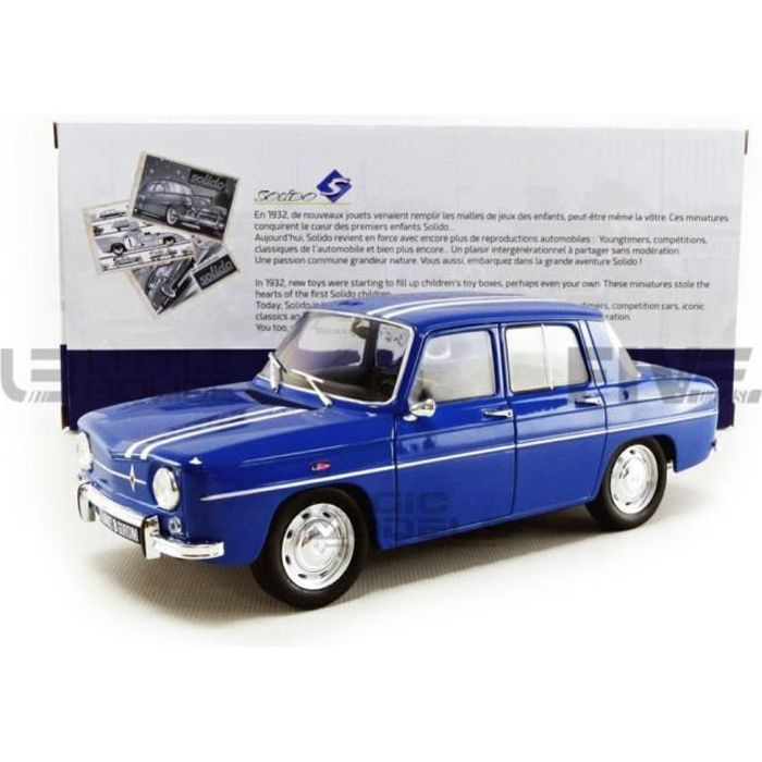 Voiture Miniature de Collection - SOLIDO 1/18 - RENAULT 8 Gordini 1100 - 1967 - Blue - 1803602