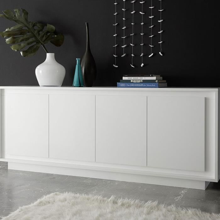 Buffet design blanc laqué mat ERINE 5