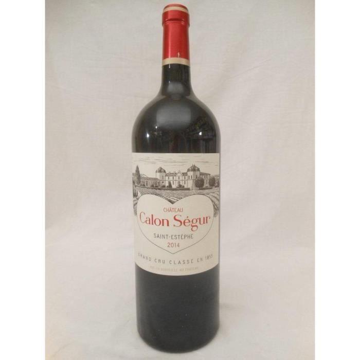 magnum 150cl saint-estèphe château calon-ségur grand cru classé rouge 2014 - bordeaux france