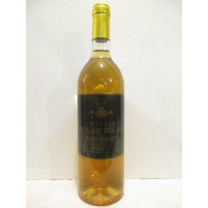 loupiac château miqueu bel-air liquoreux 2008 - bordeaux
