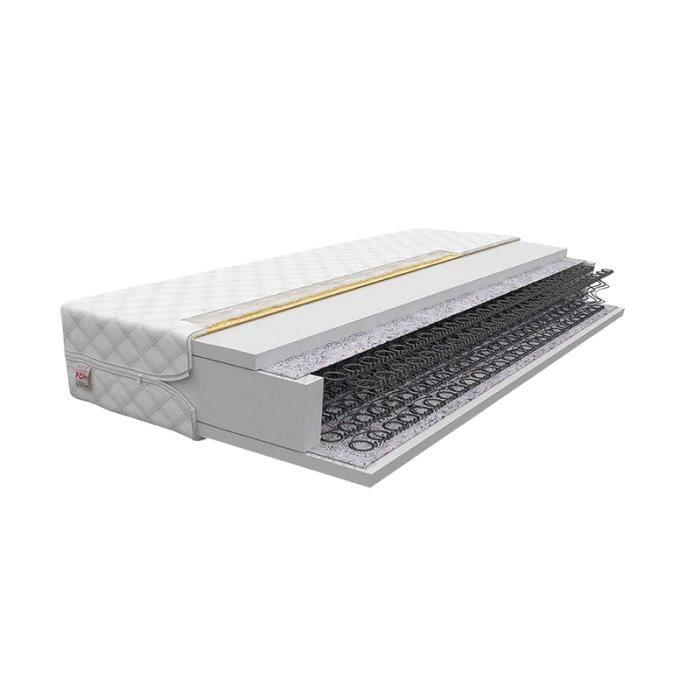Matelas ressorts coniques - FARIS - 90 x 200 cm - épaisseur 15 cm - haute élasticité - housse antiallergique