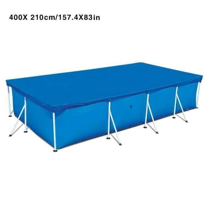 Couverture de piscine résistant aux UV, Couverture protection piscine - blue, rectangulaire