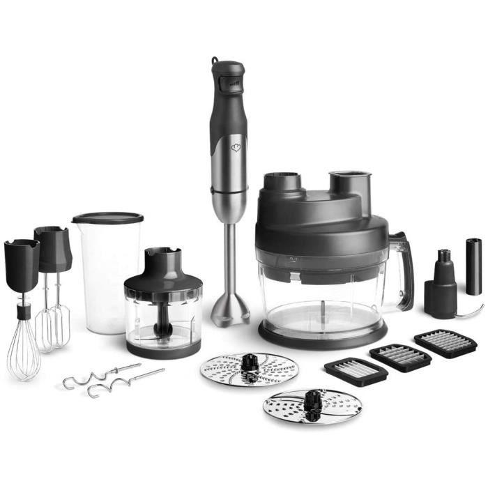 Ensemble de mixeur plongeant en acier inoxydable Sam 800W, accessoire pour mixeur, robot ménager avec accessoires