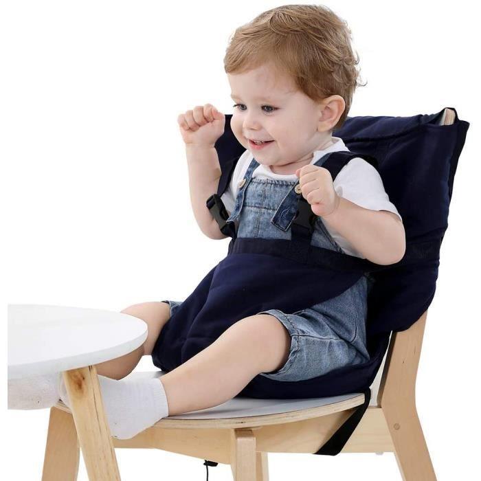 Chaise Haute de Voyage Portable Easy Seat - Rehausseur Chaise Enfant,Housse de Siège pour Chaise Haute Toddler -DFG