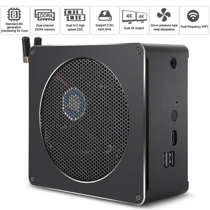 Mini PC ASHATA Mini PC Windows 10, Mini Ordinateur, Mini PC de Bureau, Mini Ordinateur hôte 4 cœurs pour Intel I5 8300H 309474