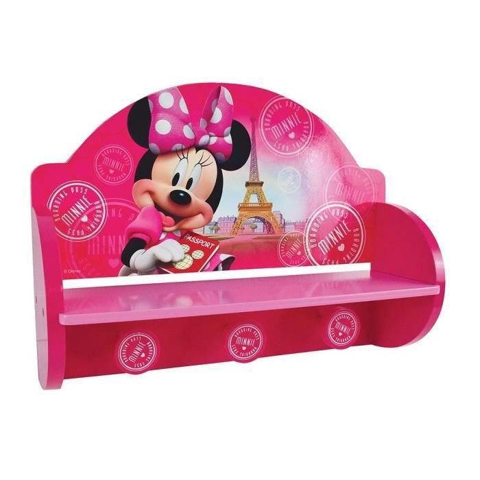 Fun House Disney Minnie paris etagere portemanteau pour enfant