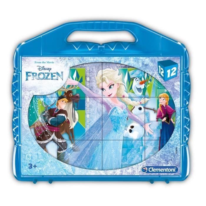 CLEMENTONI - Puzzle 12 Cubes - La Reine des Neiges