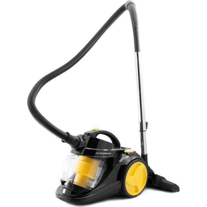 HARPER - SKOOP YELLOW ERP - Aspirateur sans sac cyclonique - 800W - 3L - 16 kpa - Jaune