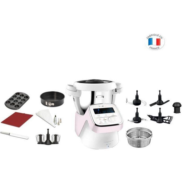 MOULINEX HF90E700 I Companion XL Edition Pâtisserie, Robot cuiseur, 1550 W, Bol 3 L, 12 accessoires, Fabriqué en France