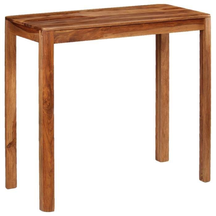 2805®TOP Nouveau Table de Bar Haute Table de Comptoir-Table de Bar Extérieur-Mange-debout Cuisine Bois 115 x 55 x 107 cm