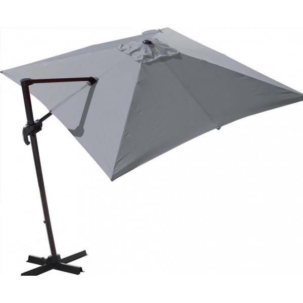 Parasol déporté 300x300 cm Orient Gris