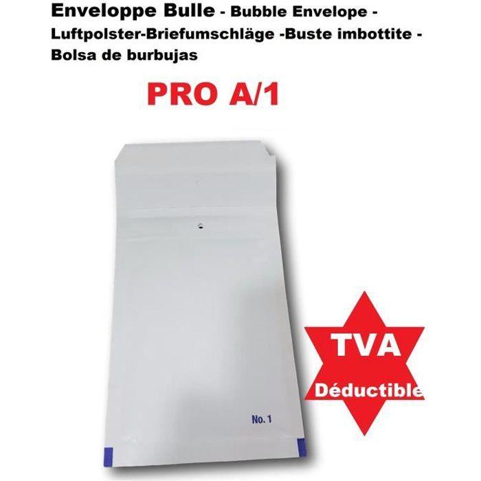 50 Petite Enveloppe a Bulles PRO A-1 100 x 165 mm dimension pochette intérieure type A1 matelassé blanche 120 x 175+ 50 mm extérieur