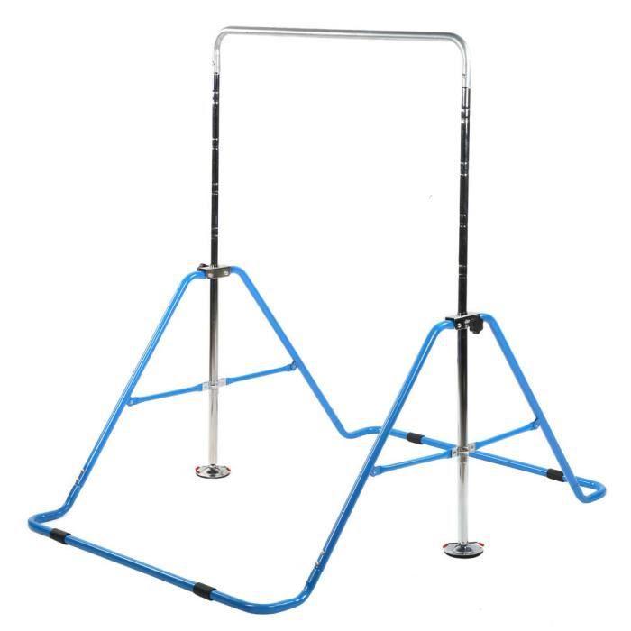 VINGVO Barre de gymnastique pliante Barres horizontales pour enfants Barre d'entraînement de gymnastique à hauteur réglable Gym