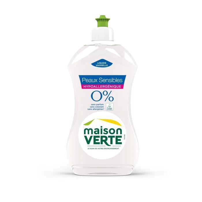 MAISON VERTE Liquide vaisselle Main 0% Sans Parfum - 500ml