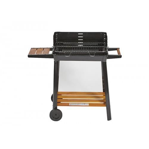 barbecue a charbon black tablette bois large grill mega promo achat vente barbecue. Black Bedroom Furniture Sets. Home Design Ideas