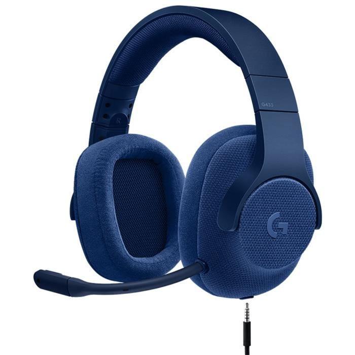 CASQUE AVEC MICROPHONE Logitech G433 7.1 Wired Surround Sound Gaming Casq