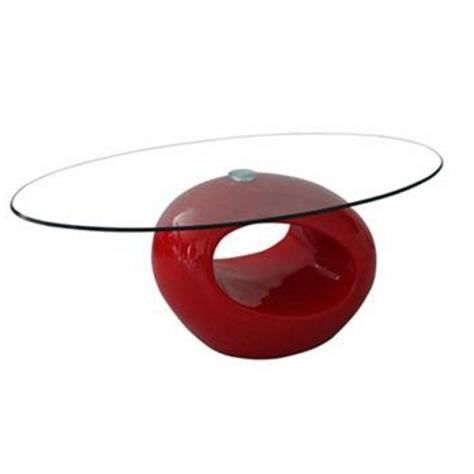 Table basse design rouge en verre maxus achat vente table basse table bas - Table basse design rouge ...