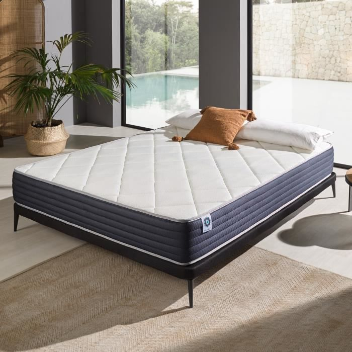 matelas royalvisco 160 x 200 cm mousse m moire blue latex 25 cm achat vente matelas. Black Bedroom Furniture Sets. Home Design Ideas