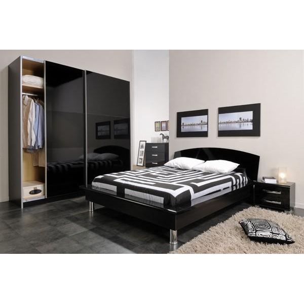 lit 2 places city bed achat vente structure de lit lit. Black Bedroom Furniture Sets. Home Design Ideas