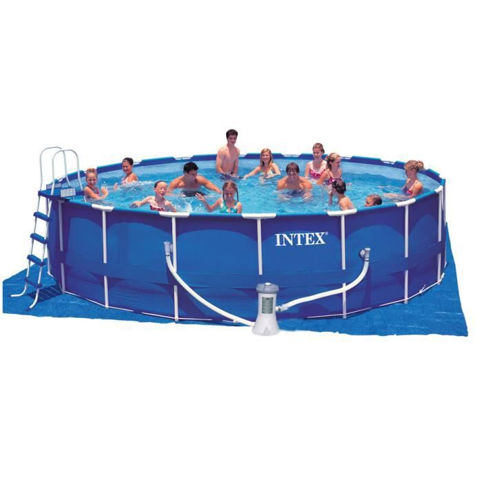piscine tubulaire intex 457 x 122 kit achat vente kit piscine piscine tubulaire intex 45. Black Bedroom Furniture Sets. Home Design Ideas