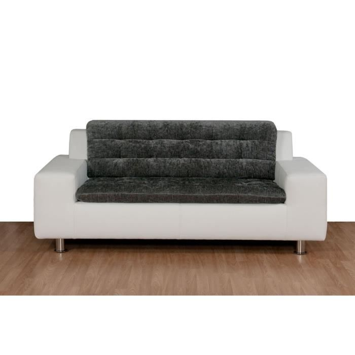 canap moderne fixe 2 places andy achat vente canap sofa divan pu tissu polyur thane. Black Bedroom Furniture Sets. Home Design Ideas