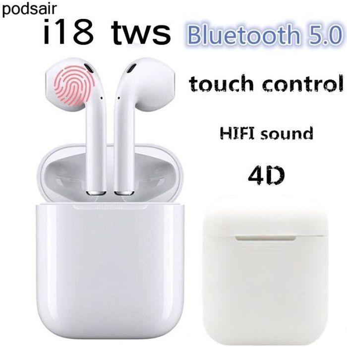 Bluetooth Headset 5.0,Casque sans Fil,Microphone int/égr/é et /étui de Chargement,r/éduction de Bruit st/ér/éo 3D HD pour Casques Apple Airpods//Android//iPhone//Samsung