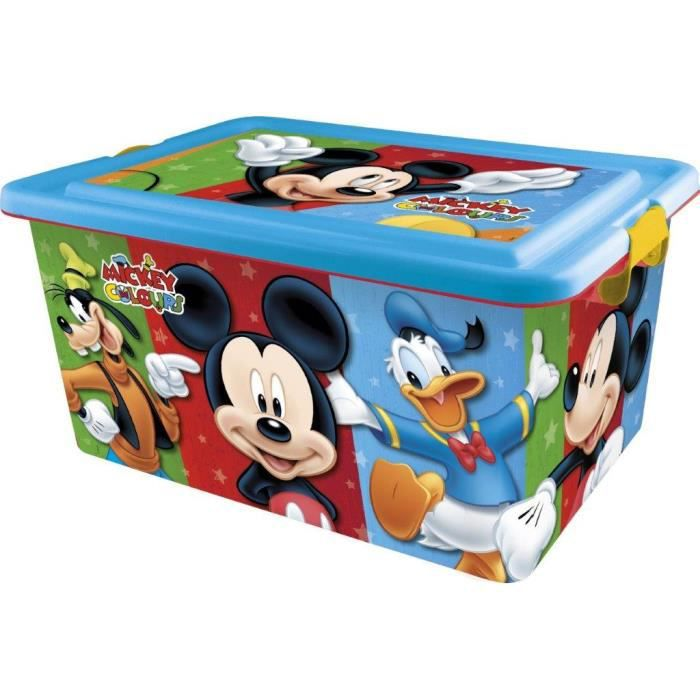 disney mickey mouse coffre jouets rangement achat. Black Bedroom Furniture Sets. Home Design Ideas