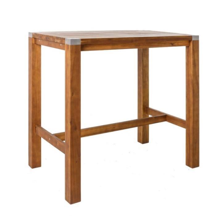 Table haute de jardin en bois