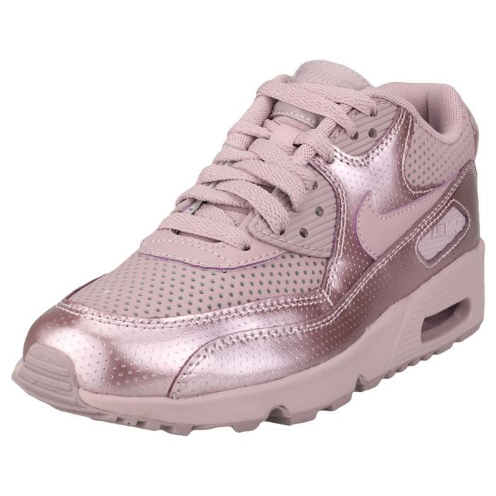 best authentic c0e4c b60e1 BASKET Nike SB Air Max 90 Se Gs Garçon Baskets Rose