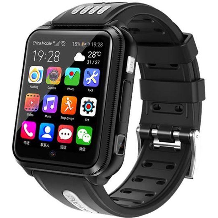 NOIR 4G montre intelligente pour enfants H1 téléphone Android ...