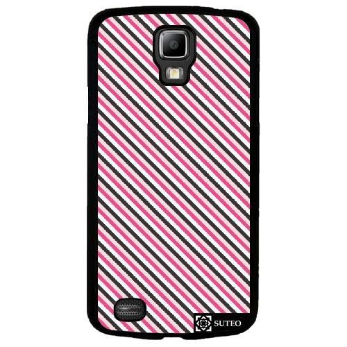 coque samsung galaxy s4 active i9295 rayures noire rose. Black Bedroom Furniture Sets. Home Design Ideas
