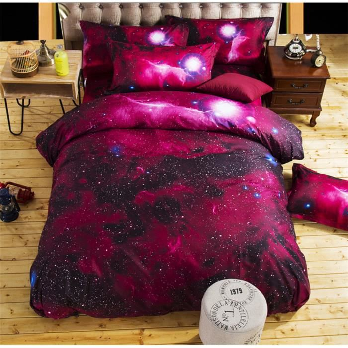 3d galaxy literie lit de linge de lit queen size universe espace extra atmosph rique th me. Black Bedroom Furniture Sets. Home Design Ideas