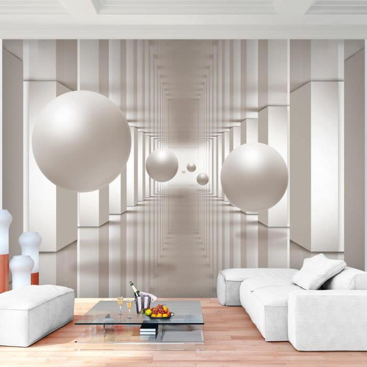 Nappes Papier peint 3d Effet Papier Peint 3d Optique peintures murales XXL Salon 3 Couleur