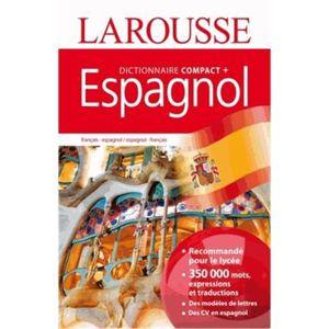 LIVRE ESPAGNOL Dictionnaire Compact plus Français-Espagnol/Espagn