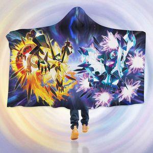 COUVERTURE - PLAID 3D Hooded Blanket for Pokemon 8244  Couverture à C