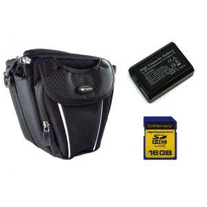 PACK ACCESSOIRES PHOTO Batterie FW50 + 16Go + Housse pour Sony alpha