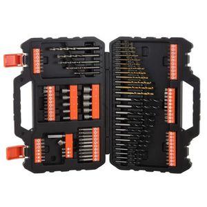BLACK+DECKER A7220-XJ Coffret de per/çage-vissage-120 pi/èces-Livr/é en Organiseur