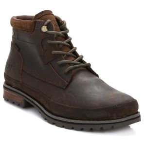 Caterpillar CAT Arven Mid Chukka Cuir Bottes en Peanut Marron P722197 [UK 10EU 44] QJlBmHO