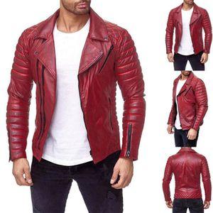 En liquidation vraie qualité taille 40 Blouson Simili Cuir Homme Perfecto Bouton -Taille Asiatique NO137 ...