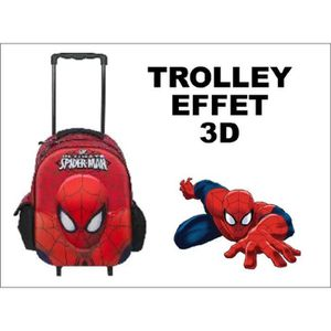 SAC À DOS Trolley spiderman Deluxe 3D - Rouge