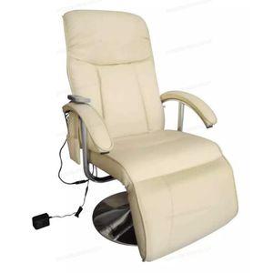 FAUTEUIL vidaXL Fauteuil de massage électrique Cuir artific