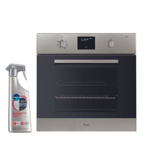FOUR WHIRLPOOL Four Pyrolyse Inox 65L Multifonction Cha