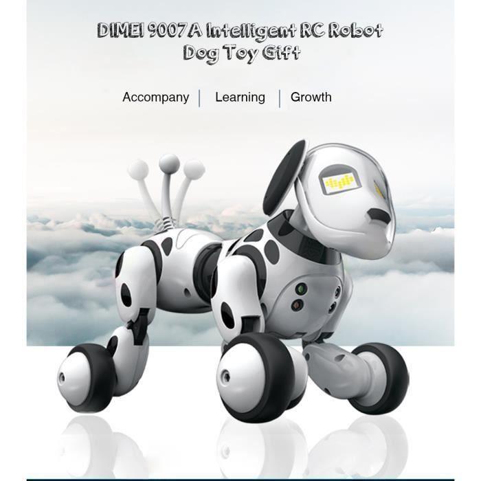 Robot chien A Reconnaissance Vocale,Chien Robot Jouet-Robot Chien de jouet électronique intelligent XC938