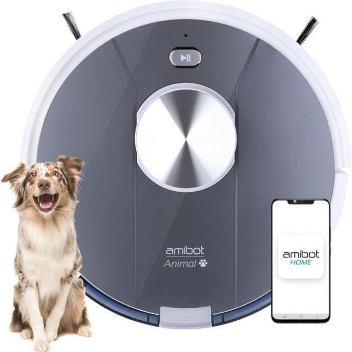 Robot Aspirateur et laveur spécial poils d'animaux - AMIBOT Animal Motion