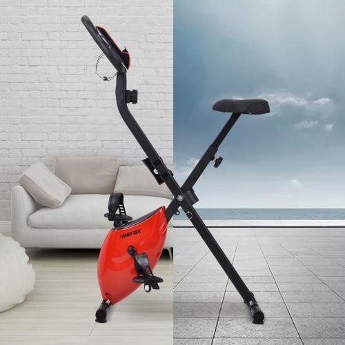 Vélo d'appartement pliable Rouge HB012 -POU