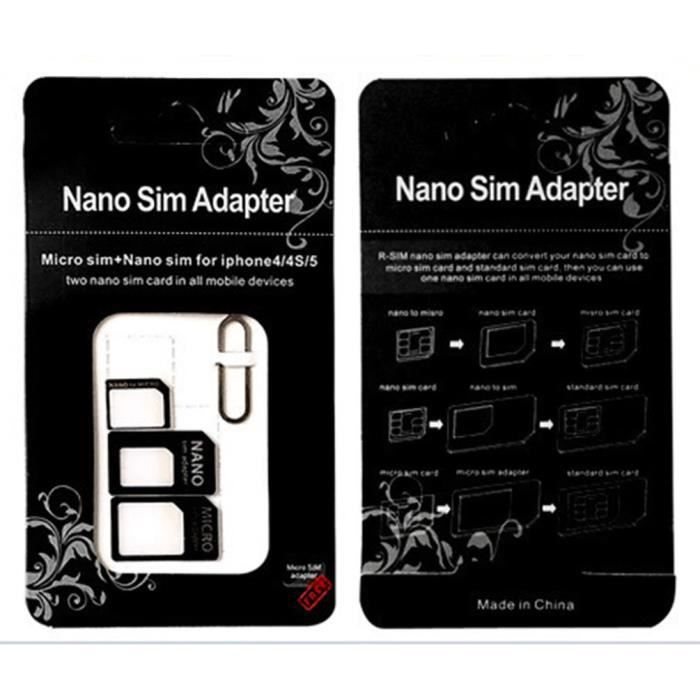 Adaptateur de carte SIM 3 en 1 pour WIKO View 2 Go Smartphone Micro-SIM Nano-SIM Universel