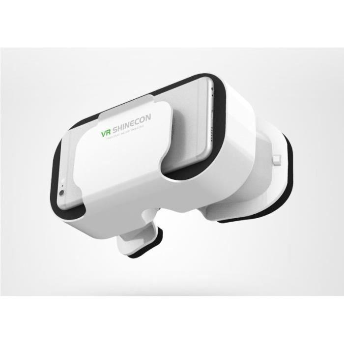 Casque VR 5.0 pour WIKO Y80 Realite Virtuelle (BLANC)