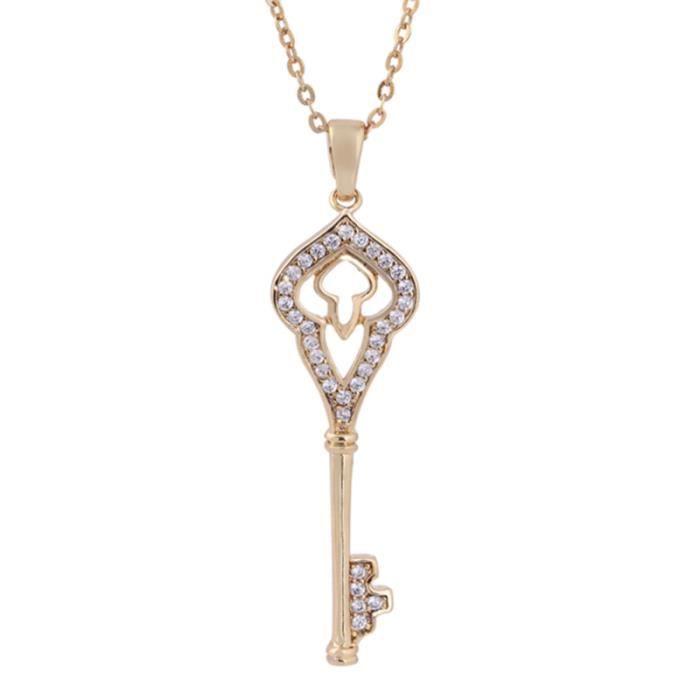 1 Pc collier pendentif mode or délicat clé en forme de clavicule chaîne pendentifs pour filles femmes CHAINE DE COU VENDUE SEULE