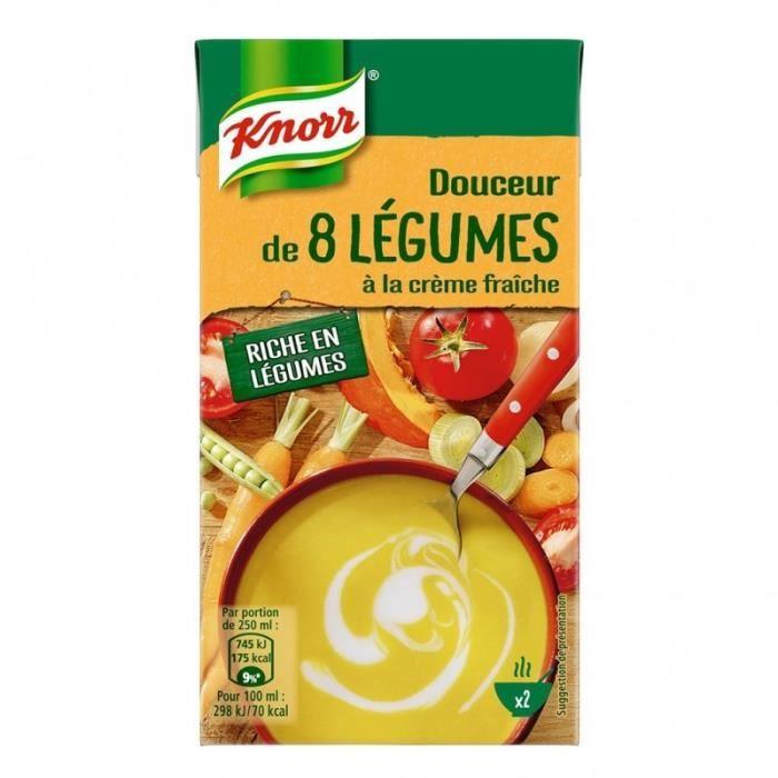 Knorr Douceur de 8 Légumes à la Crème Fraîche 50cl (lot de 4)