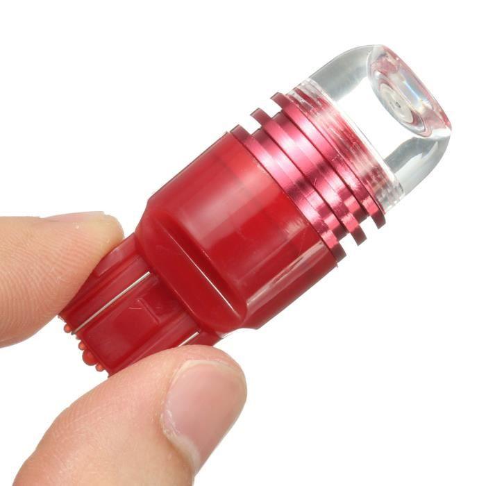 2X 12V 7440 7443 Ampoule Rouge Strobe Flash Frein Stop Arrière Auto